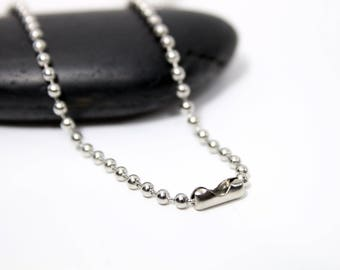 45cm link chain necklace - stainless steel - ball 45cm