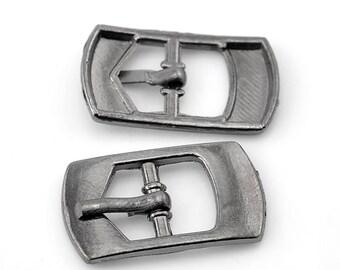 2 Matt 5x9mm belt buckles: sea 0175