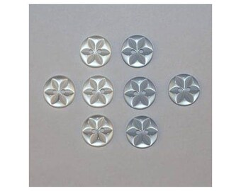 40 x buttons basic 14 mm 2 holes set A star *-000835
