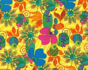 Calypso Goldfish 100% cotton fabric