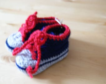 boots or shoes Navy Blue, red and grey 6/9 months baby