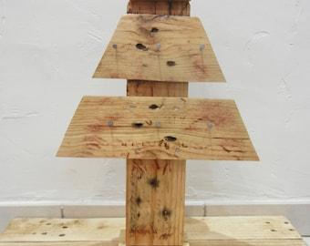 blank wooden Christmas tree