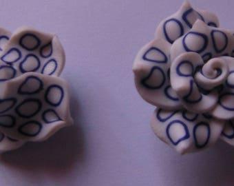 Pearl flower polymer 25mm in diameter