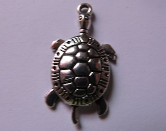 Silver Pendant turtle 31mmx16mm