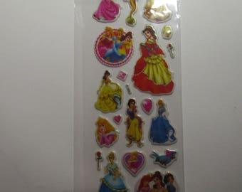 princess board stickers 16cmx7cm