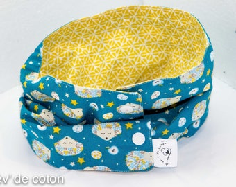 Snood special snap native blue/yellow pattern Hedgehog