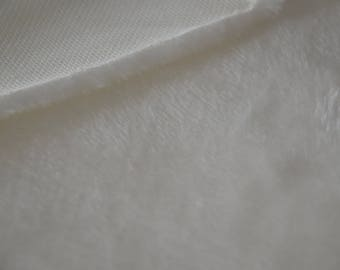 Plush white cotton fabric with soft hairs 50 * 50cms