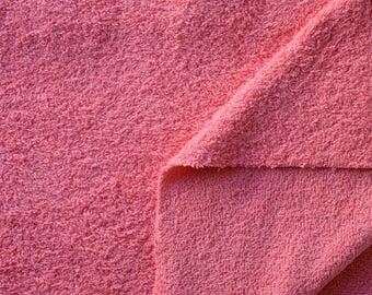 """100% Terry - """"Coral"""" cotton fabric coupon"""