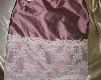 Free shipping! shabby style silk lingerie bag