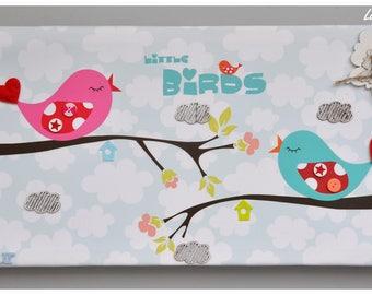 """Frame spring """"Little birds"""" for child's room"""