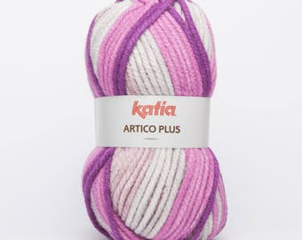 Ball of wool ARTICO over 200 GR. -Katia 103 lilac color