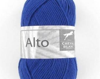 100% cotton crochet yarn wool knitting Viola blue No. 006 horse white n ° 140
