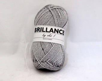 Yarn with shiny rayon knitting No. 408 grey flannel shine