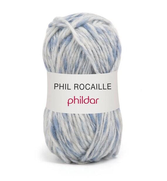 grosse laine tricoter phildar phil rocaille coloris danube. Black Bedroom Furniture Sets. Home Design Ideas