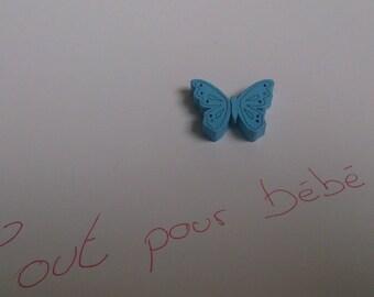 light blue butterfly bead