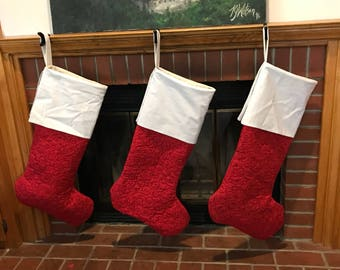 GIANT Quilted Homemade Stockings!
