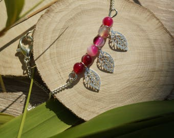 Bracelet leaf and Agate beads