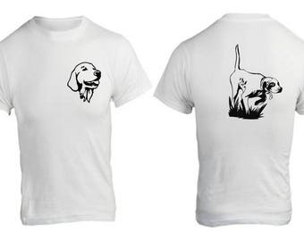 T-shirt with hunting dog motif