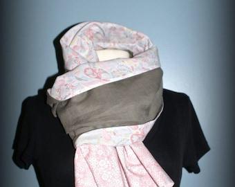 Etole  foulard  écharpe cheich  Liberty Taupe