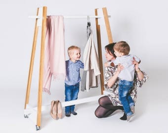Nordic style solid wood clothing rack / Clothes Rack / Garment Rack