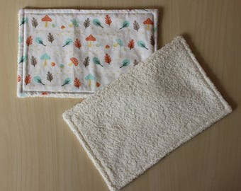 "Wipe lavagle ""large"" - mushroom pattern, nut and leaf - 21 x 13.5 cm"