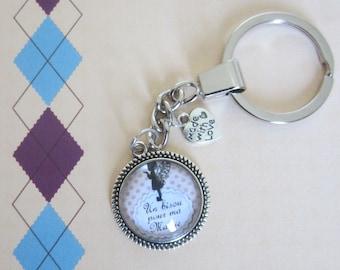 "Mother of Granny/Grandma - gift for Grandma: ""Kisses for my grandma"" keychain"