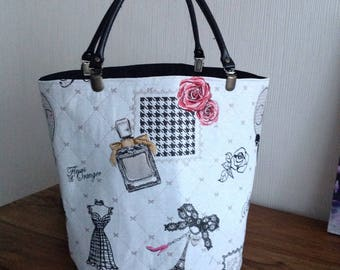 Bag with removable handles vintage round