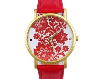 1 watch dial with lace with battery accessory + bracelet
