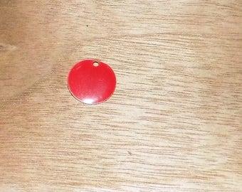 Red Medallion resin 15mm