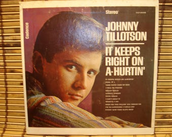 "Jihnny Tillotson - 7"" 33 RPM Mini Jukebox LP - It Keeps Right On A Hurtin' - Picture Sleeve"
