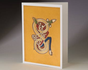 S - from Book of Kells Art Card
