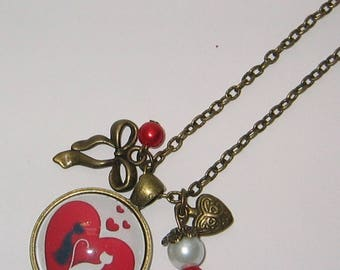 Necklace cabochon 25mm jewel * cats lover *.