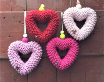 Knitted Heart - Hand Knit 15cm
