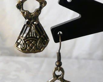 Bronze dress earrings 4.5 cm