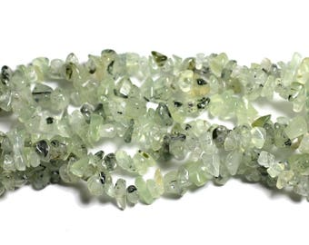 Wire 300pc approx 89cm - rock Chips 5-10mm Phrenite stone - beads