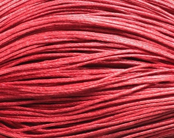 90 m-skein cord cotton 1 mm red 4558550017529