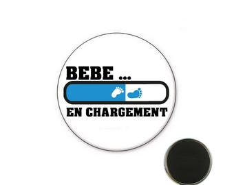 Baby boy baby loading - 25 mm Magnet magnet