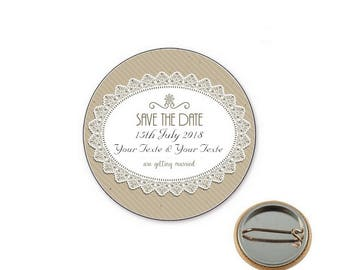 Badge wedding Save the date Ø25mm pin