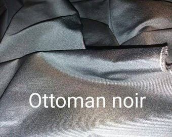 fabrics lightweight ottoman black width 150 cm
