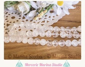 10 pearls 6mm - reiki - chakra rock crystal