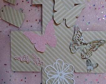Cut set box + fancy paper Butterfly