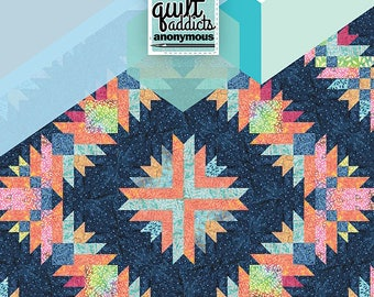 Burst a 6 month BOM pattern from Quilt Addicts Anonymous