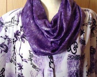 Purple circle scarf