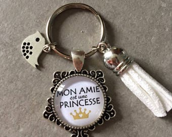 eee17c0a799 Amie   Copine - Porte clés cabochon verre de 20 mm