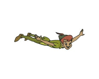 Peter Pan Flying Embroidery Design - 4 sizes and 6 formats