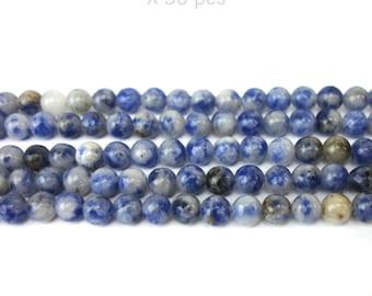 30 round 4 MM blue stone beads
