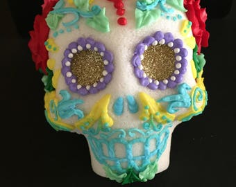 Traditional Mexican sugar skull. day of the dead, sugar decorations