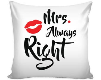 For her side / Mr Right Pillow with insert