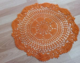 stained glass crochet doily