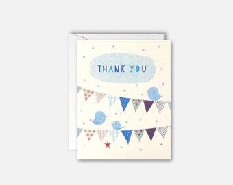 Thank You Blue Bunting pk of 5 cards by James Ellis